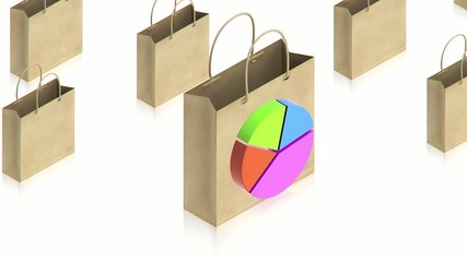 Shopping paper bag with chart
