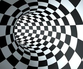 fototapeta tło w kratkę okrągły tunel