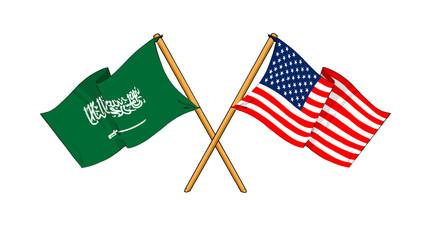 America and Saudi Arabia alliance and friendship