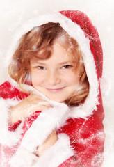 Kleine Miss Santa mit Glitzerstaub
