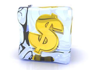 Gefrorener Dollar