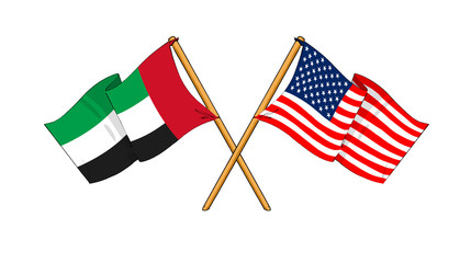 America and United Arab Emirates alliance and friendship