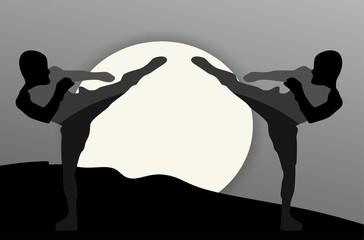 Martial Arts - Silhouette