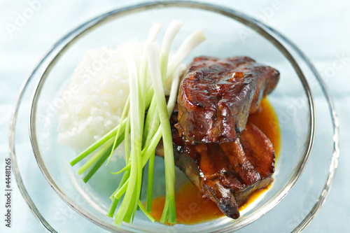 Ribs with rice