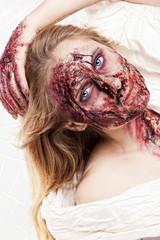 Blut Gesicht