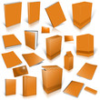 Orange 3d blank cover collection