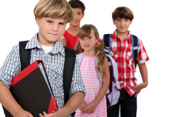 group of children at school