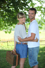 Couple havingn a picnic