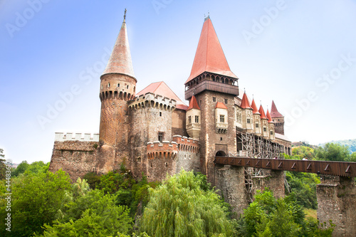 The Hunyad Castle. Renaissance castle in Hunedoara , Romania