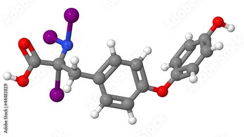 Triiodothyronine (T3) molecular model