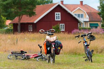 Pause auf einer Fahrradtour