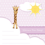 welcome new baby girl - giraffe