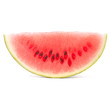 Ripe watermelon slice