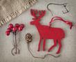 Red christmas deer