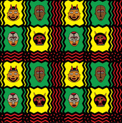 African mask pattern
