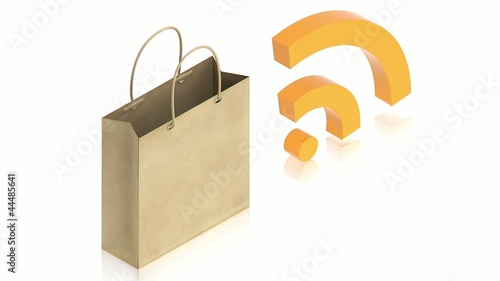 paper bag with wifi sign