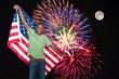 Man at Fireworks