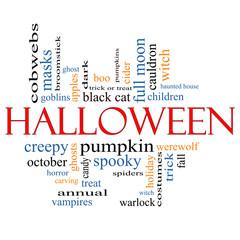 Halloween Word Cloud Concept