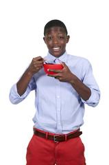 Teenager Eating