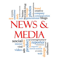 News and Media Word Cloud Concept