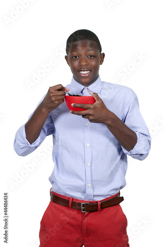 Teenager Eating