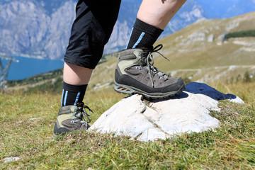 Hiking on Monte Baldo. Italy