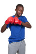 Black Teenage Boxer