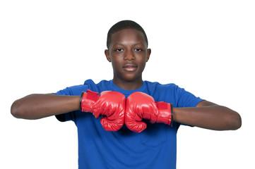 Black Teenage Boxer
