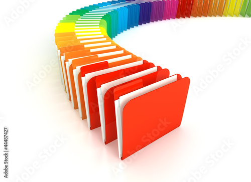 3D Colorful Folder Farbige Ordner