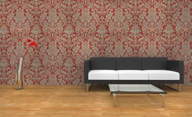 Modern Vintage Wallpaper Living Room