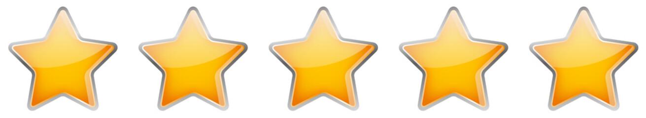 Bewertung Sterne Button Set