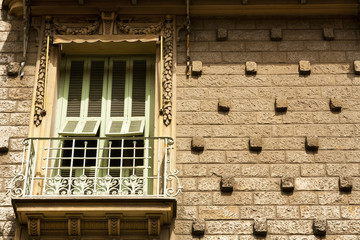 Historical building facade particular window, Nice