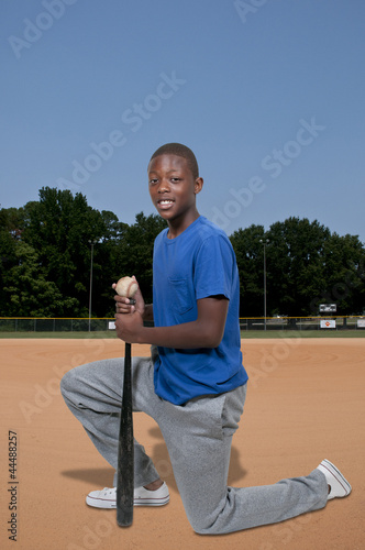 Teenage Baseball Player