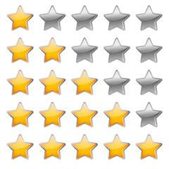 5 Sterne Bewertungssystem
