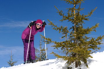 winter woman ski