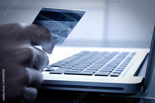 Leinwandbild Motiv Online payment