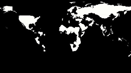 Political Map of the World, black and white