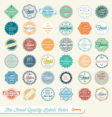 Vector Set: The Finest Quality Labels and Stickers