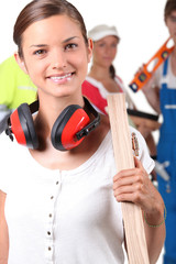 Portrait of a female foreman