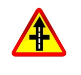 higher priority road traffic sign poster