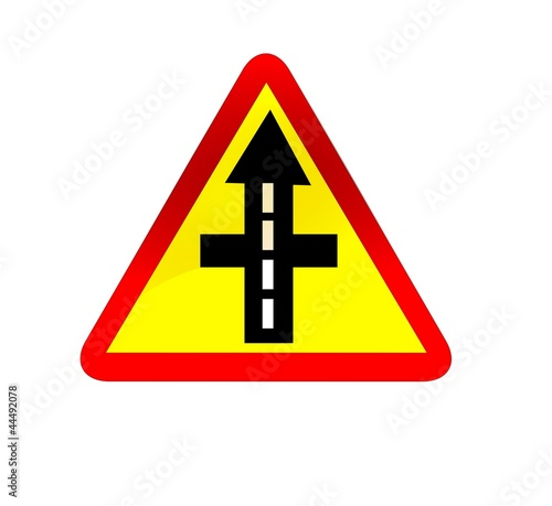 higher priority road traffic sign