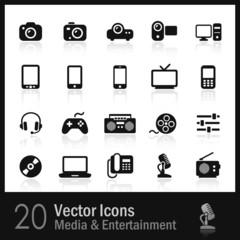 20 Media & Entertainment Icons