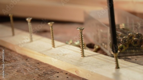 Putting some screws in a piece of wood