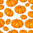 Seamless pattern with pumpkins. Vector EPS 8.