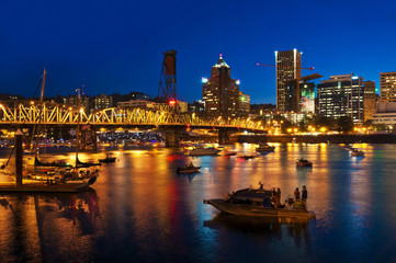 A Beautiful nightview of portland city