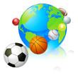 Sports globe world concept