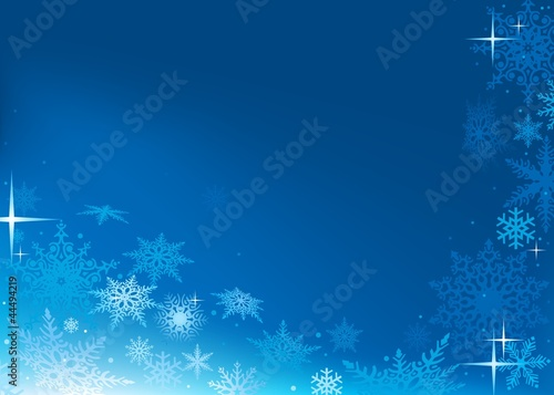Blue Abstract Xmas Background