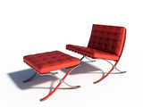 red chair relax furniture