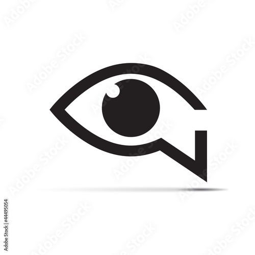 Logo speaking eye # Vector