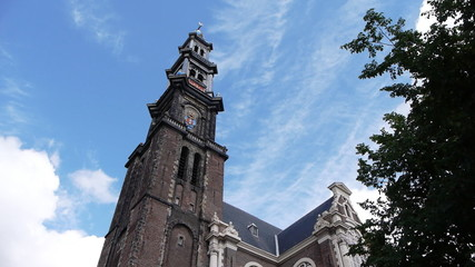 Amsterdam the tower of Westerchurch